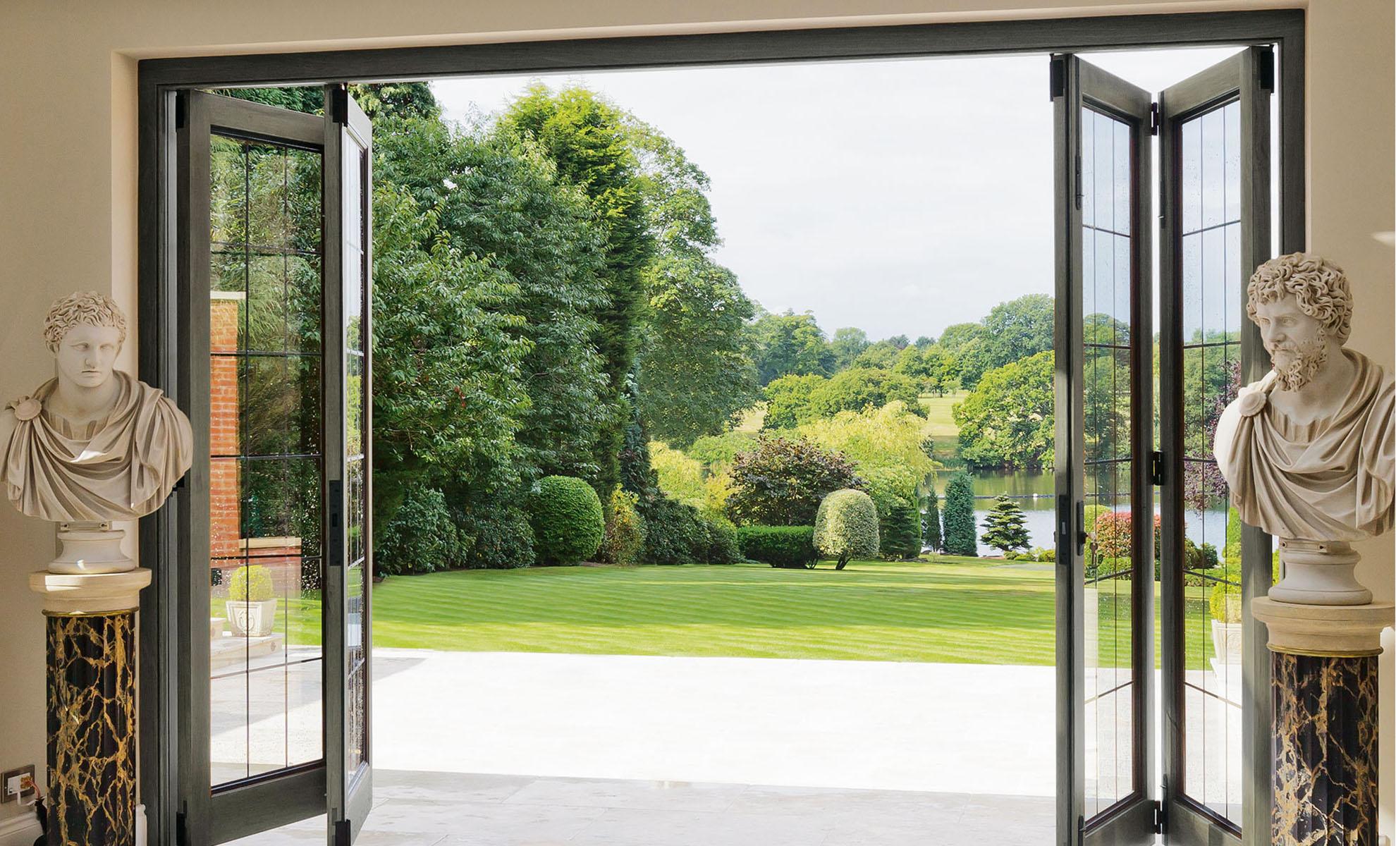 Bi Fold Doors Exterior Hardwood Patio Doors Give You Style And