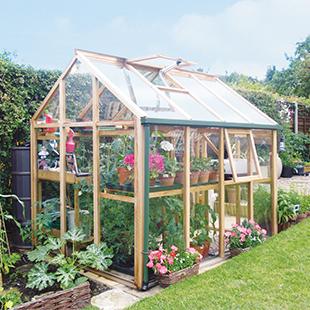 greenhouse, glass, red cedar, garden, outdoor, growhouse