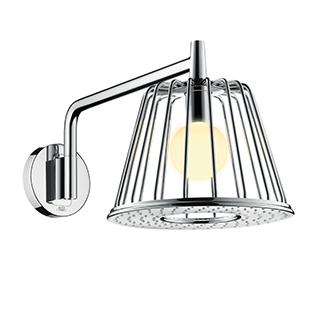 axor, lampshower, light, water, led, shower, shower head, showerhead, function, bathroom