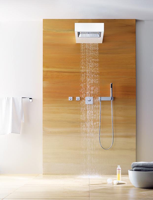 spa, shower, bathroom, en suite, waterfall effect, sangha, shower head, shower head