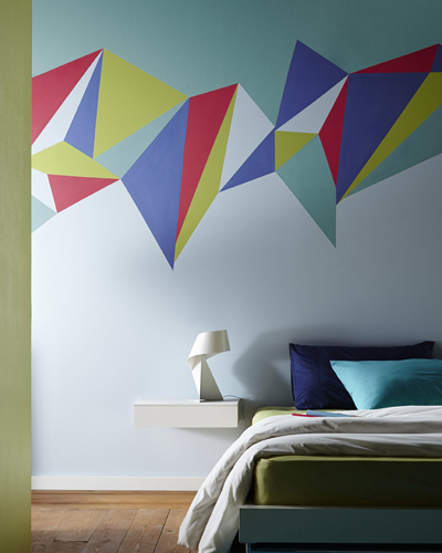 The new feature walls real homes for Geometric paint designs