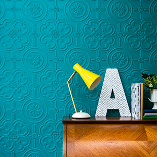 Egon painted textured wallpaper