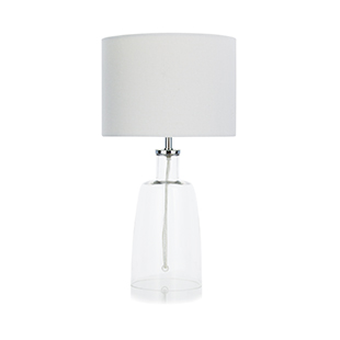 Light grey glass lamp from George Home