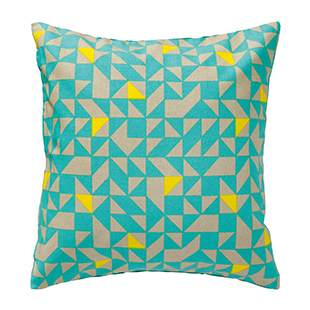Green cotton cushion cover from Hema