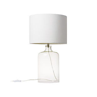 William glass bottle table lamp from John Lewis