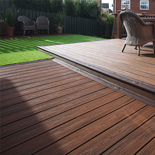Trax transcend recycled wood composite decking