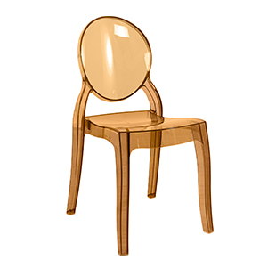 Elizabeth polycarbonate chair yellow from Furniture Village