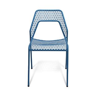 Blu dot hot mesh steel chair blue from Heals