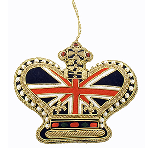 Tinker Tailor Union Jack fabric crown from Go British