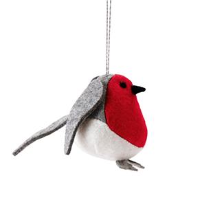 Vintermys robin fabric decoration from Ikea