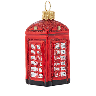 Red telephone box glass decoration from Liberty