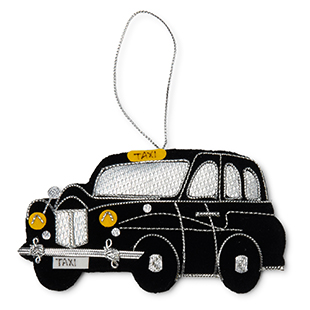 London taxi fabric decoration from Selfridges