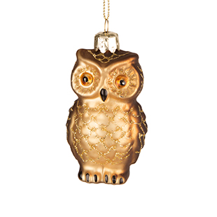 Painted owl glass bauble from The Contemporary Home
