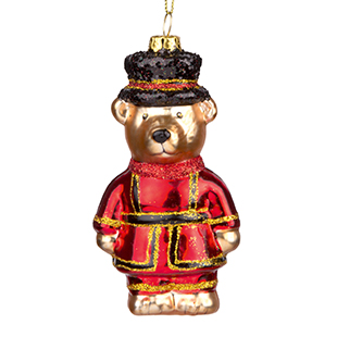 Beefeater teddy glass bauble from The Contemporary Home