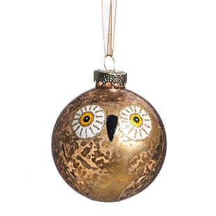 Owl glass bauble from Wilko