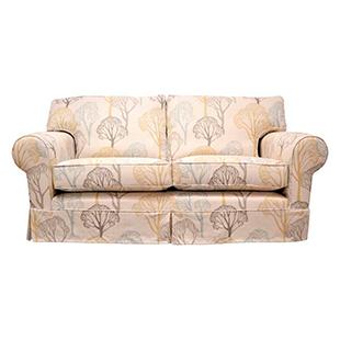 Naomi medium sofa bed in Villa Noval Delaware fabric in Eucalyptus from Multiyork
