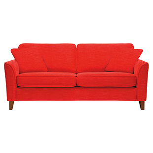 Carrie sofa bed in Lugano fabric in Pillarbox red from sofa workshop
