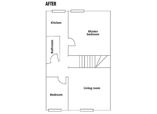 Floorplan of apartment