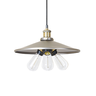 Christophe triple-bulb metal pendant light from My Furniture