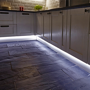 Flexible LED strip lighting for the kitchen from Hafele