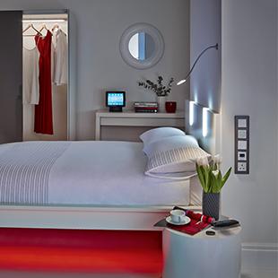 12V MOVE thin headboard bed light from Hafele
