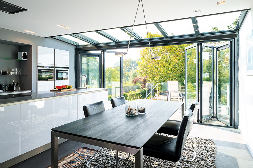 Highly Insulated SL60e Aluminium Bi Fold Doors From Solarflex