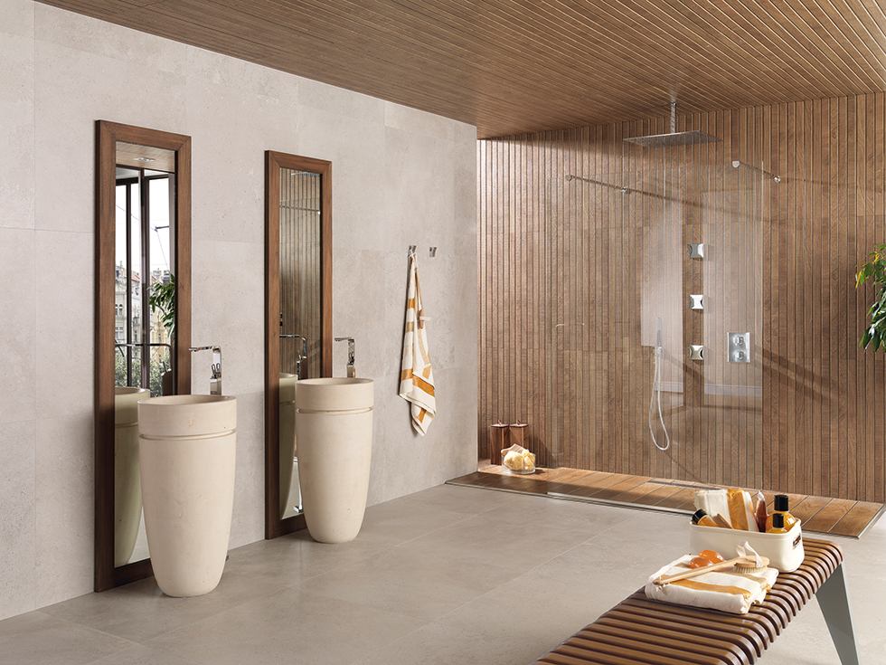 Liston Oxford and Portland Arena tiles from Porcelanosa