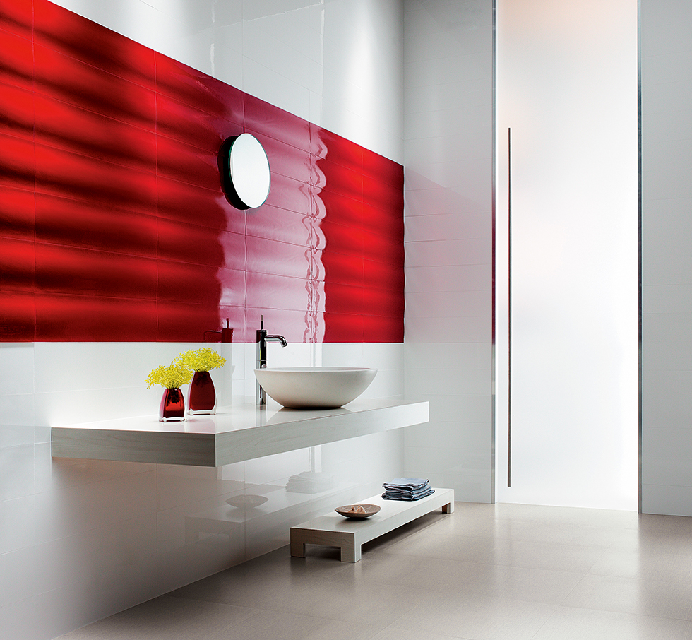 Heatwave red ceramic tiles from Stone & Ceramic Warehouse