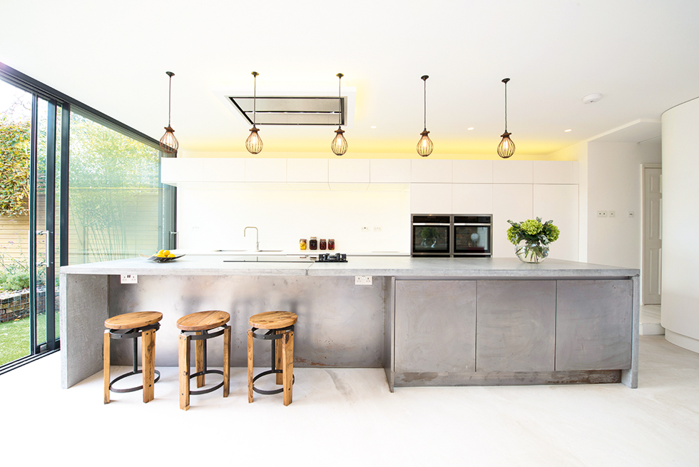 Mortise Concrete worktop designed by David Hingamp at Ar-chic