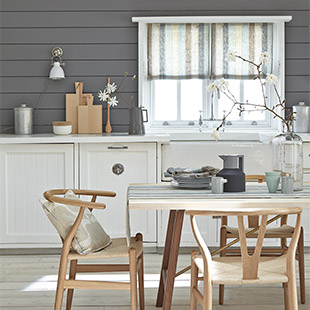 Pure linen Scandi Stripe in Cool from Vanessa Arbuthnott's Nordic-inspired Scandinavian Woven Collection