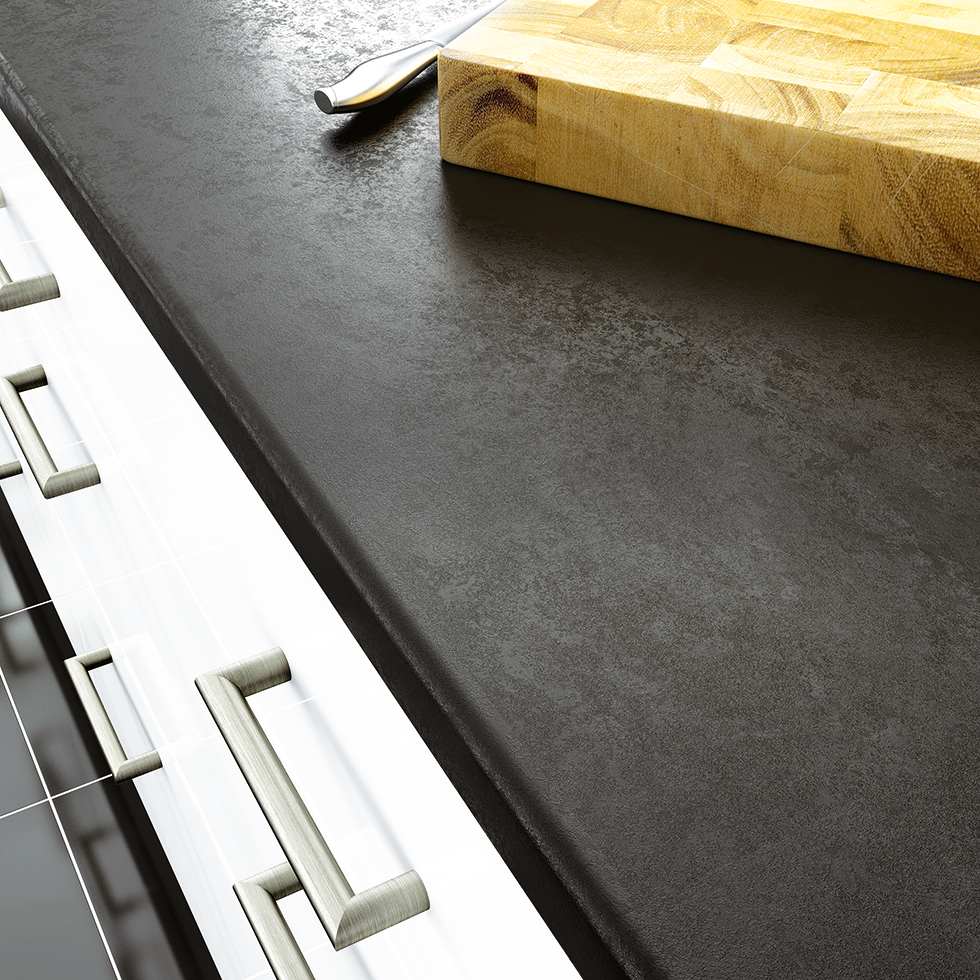 Lunar Night laminate work surface from Wickes