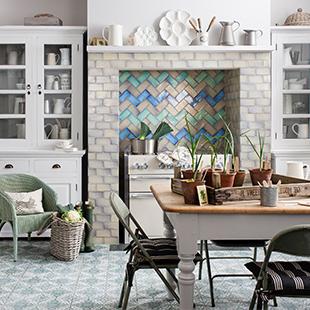 Shibori tiles from Topps Tiles