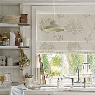 Rockpool design Roman blinds from Laura Ashley