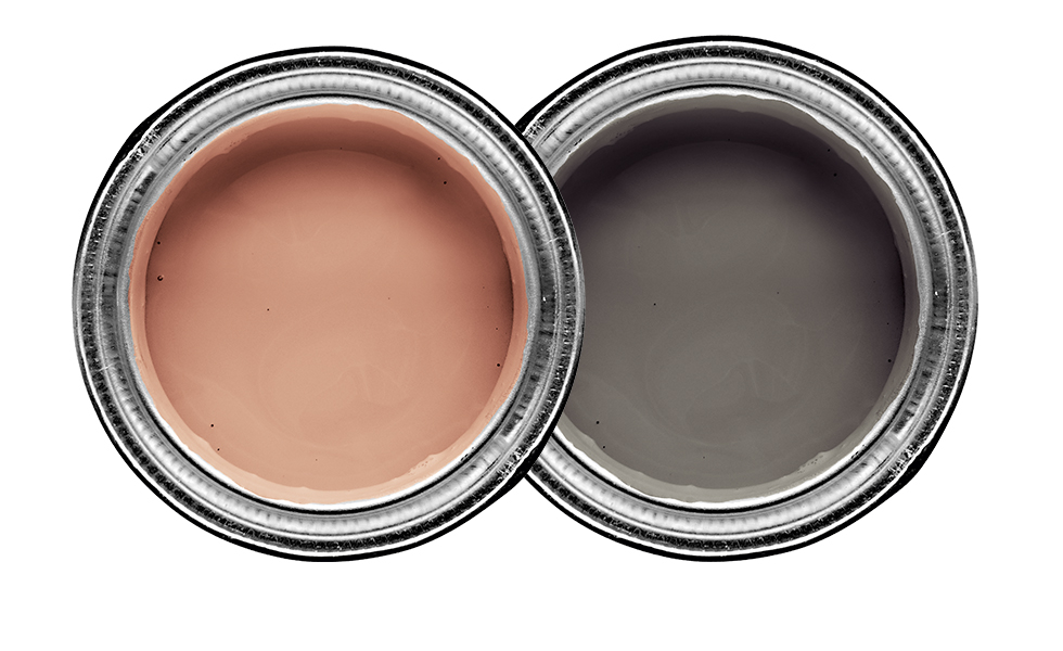 Dulux Copper Blush and Vintage Smoke
