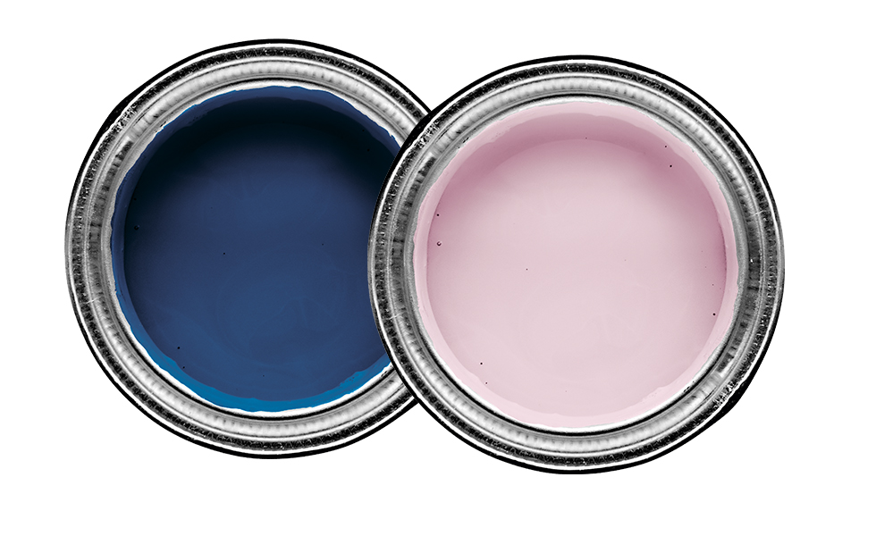 Blue matt emulsion and tint matt emulsion paints by dulux