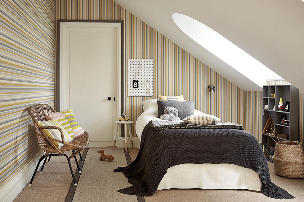 Tailor stripe wallpaper from Little greene