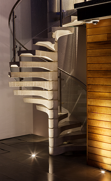 staircase led lighting. led uplighting on a spiral staircase led lighting