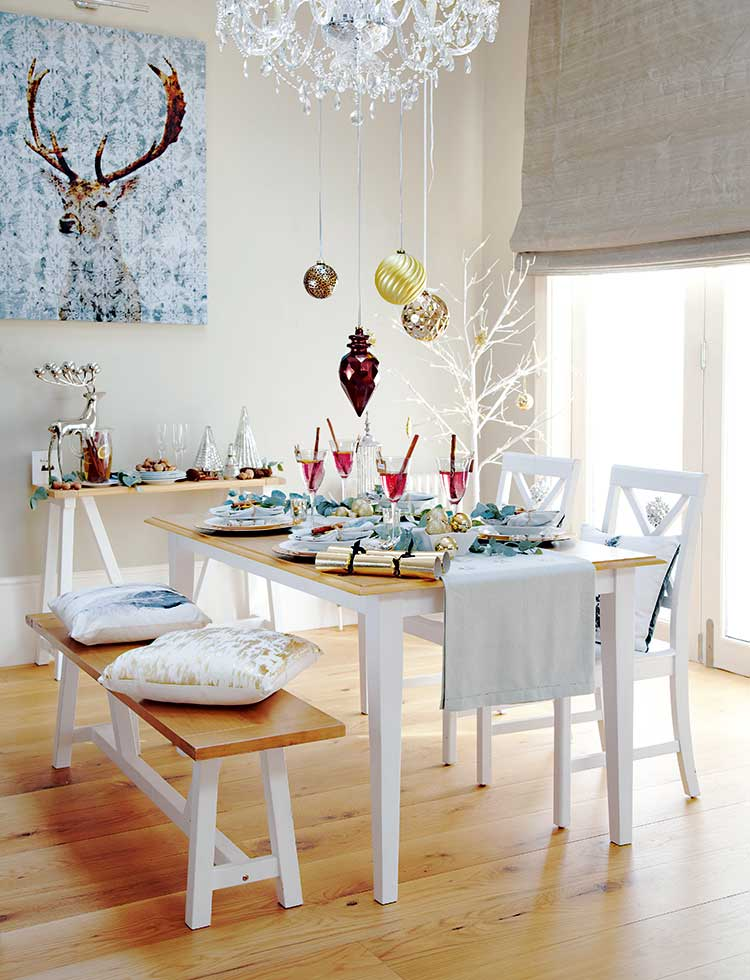 When it comes to your Christmas-day dining table display, take time to add the special personal touches that will make your day memorable. All items from Tesco.