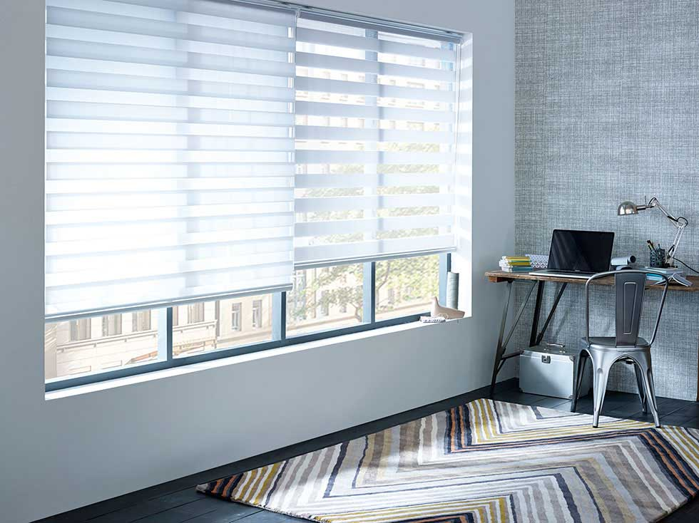 Focus on window treatments roller and roman blinds real for Best shades for windows