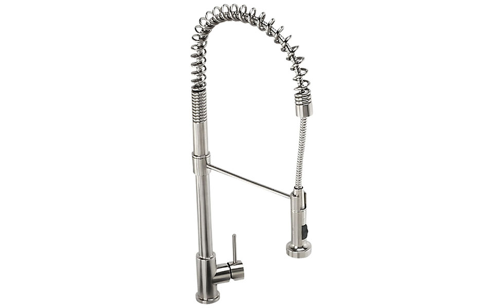 Abode Stalto professional kitchen tap in stainless steel