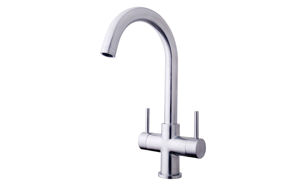 B&Q-double-mixer-tap-stainless-steel