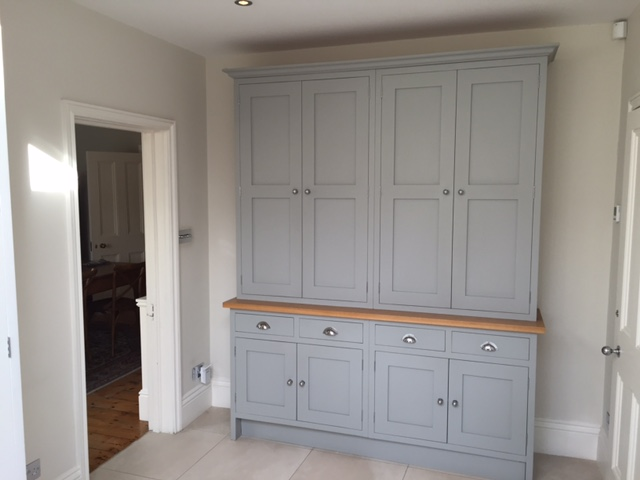 Hand made dresser in Lamp Room Grey with oak surface