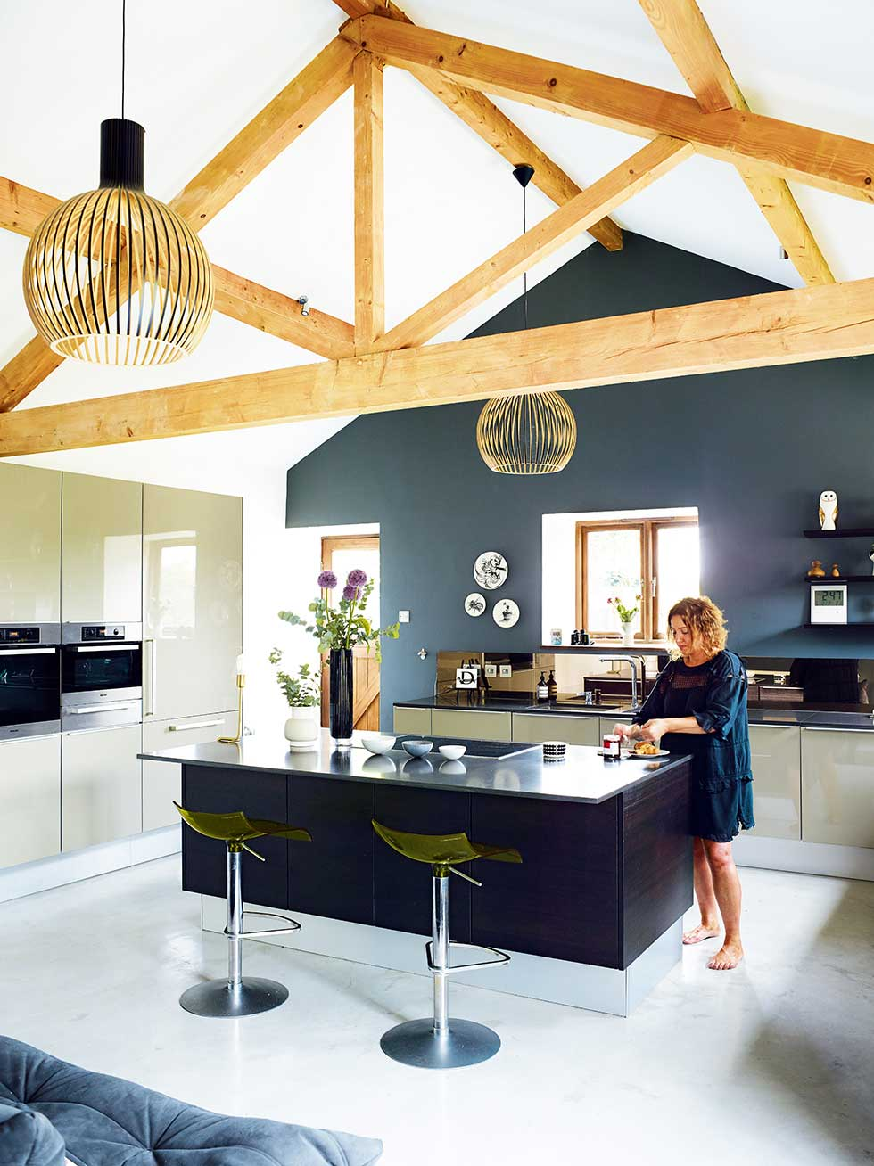 Updated barn conversion with a modern design real homes for Modern barn kitchen