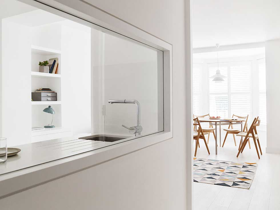 London flat internal kitchen window