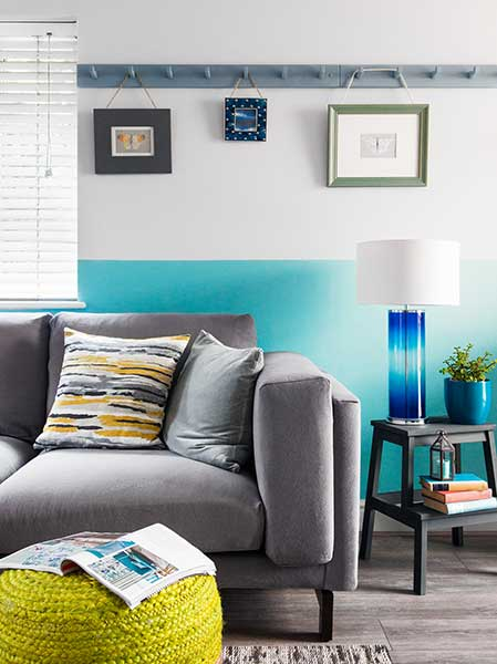 living room with coat peg picture rail