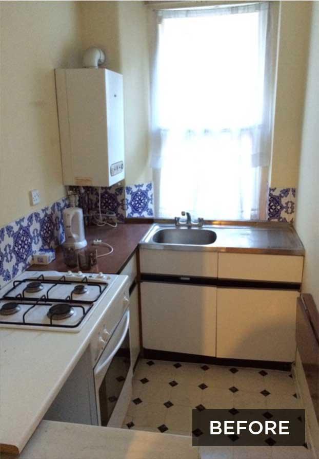 Small London Flat Kitchen Before Renovation Part 30