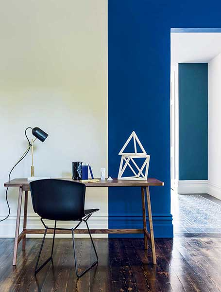 16 ways to use blue in your interior scheme Real Homes : 1conran cornflower wall paint dark blue from www.realhomesmagazine.co.uk size 455 x 600 jpeg 27kB