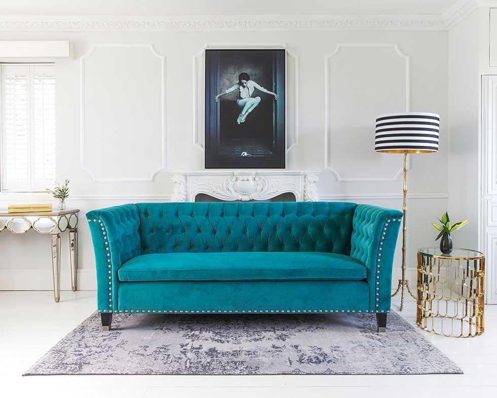Teal Blue Sofa Velvet Interior Design Interior Design Part 70