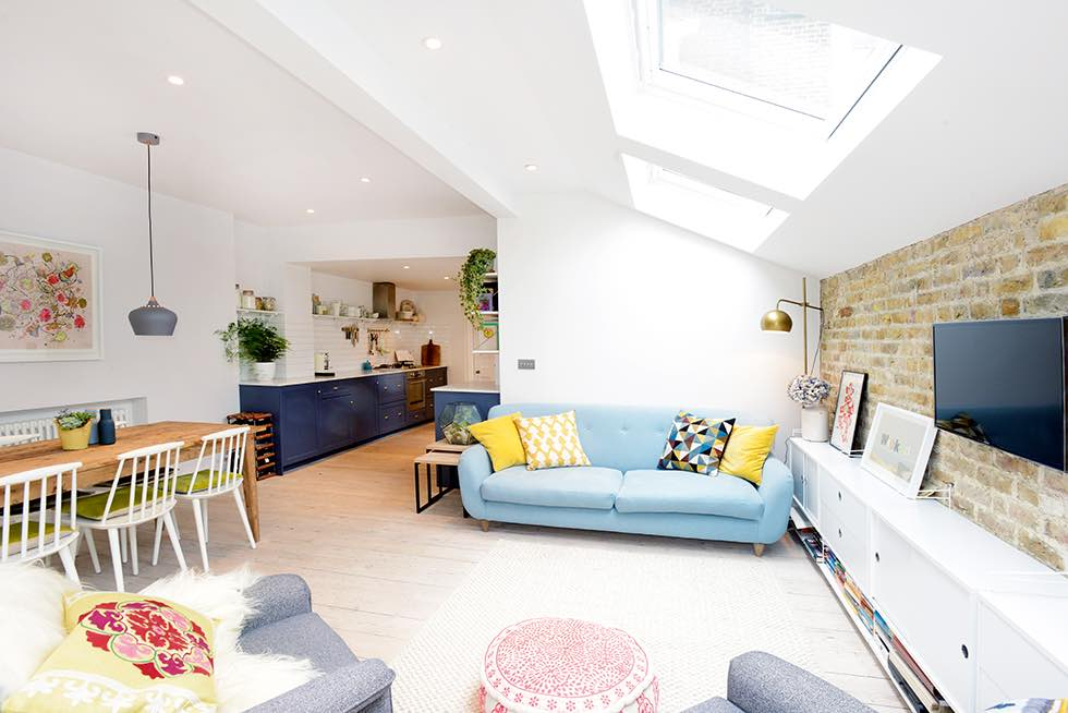London flat extension living room seating