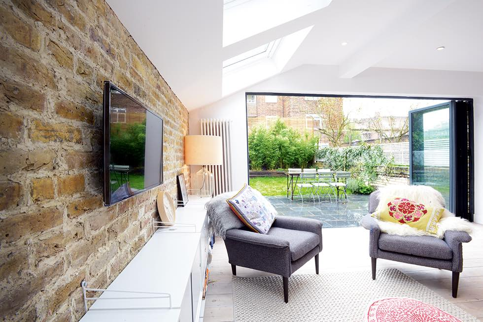 London flat extension open plan seating